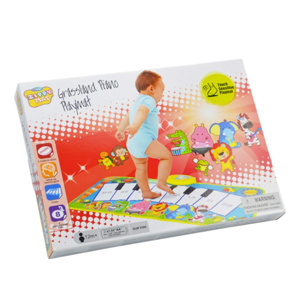 Play Keyboard Mat Cartoon Animals 32 Inches 8 Keys Foldable Floor Keyboard Piano Dancing Activity Mat Musical Keyboard Playmat With Demo Memory Play Touch-sensitive Step And Play Instrument Toys For T by GAOCAN-gq (Image #6)