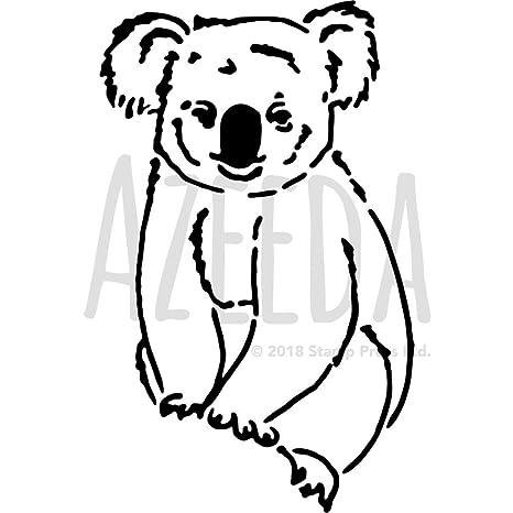 Amazon.com: A3 \'Koala Bear\' Wall Stencil / Template (WS00027346 ...
