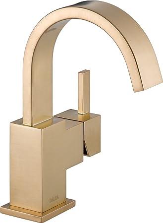 Delta Faucet Vero Single Handle Bathroom Faucet With Metal Drain