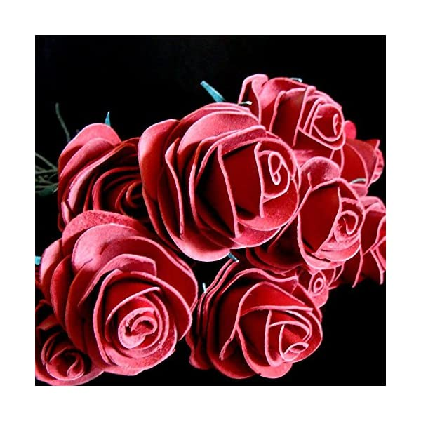 BINESHII-Handcrafted-Leather-Roses-in-Four-Colors-Red-Purple-Black-and-Buckskin-Buy-1-3-6-or-a-Dozen