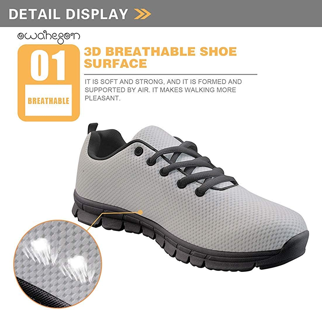 Owaheson Lace-up Sneaker Training Shoe Mens Womens Elegant No Drama Llama