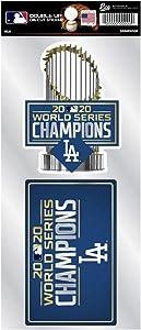 "Rico 2020 Los Angeles ""LA"" Dodgers World Champions Double Up Decal Die Cut Sticker Set"