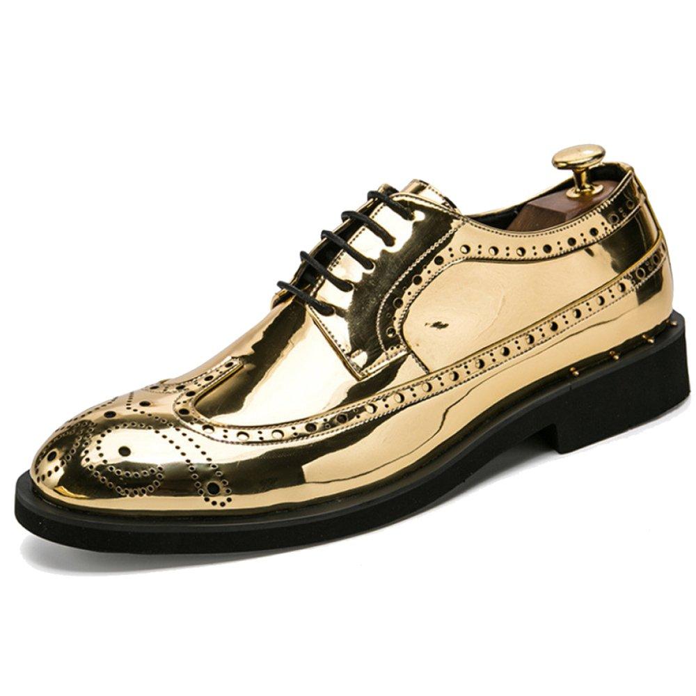 Herren Lackleder Vintage Brogue Schuhe Herren Schnü rschuhe Derby Hochzeit Arbeit Business Formale Schuhe Grö ß e 38-46 Souy
