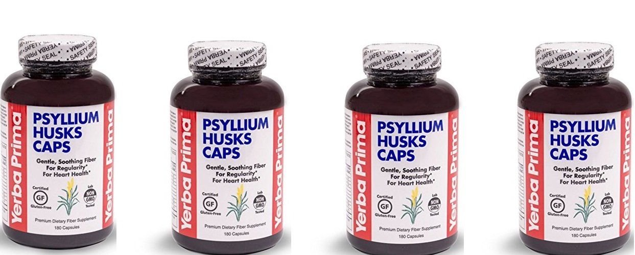 Yerba Prima, Psyllium Husks Caps, 4 Pack, 180 Capsules