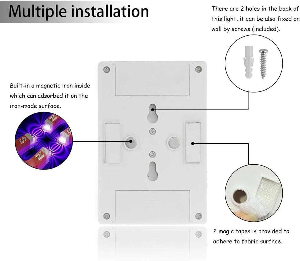 OurLeeme magnetico ultra luminoso Mini PANNOCCHIA LED Light Wall Night Lights Campo lampada a pile con interruttore magico nastro per Outdoor Indoor garage Tromba delle scale Closet