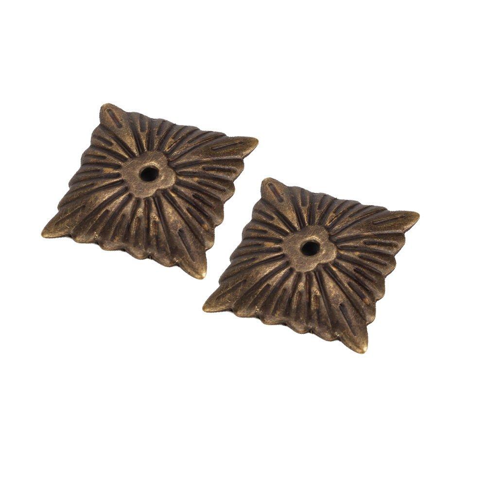 Yibuy 500pcs Iron Bronze Antique Square Upholstery Nails Hardware Tacks Studs by Yibuy (Image #3)