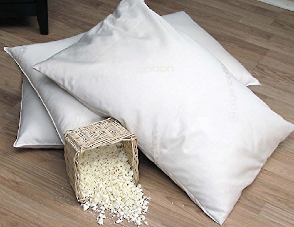 Organic Lifestyle Washable - Natural Shredded Rubber Latex - Down Alternative Zipper Pillow (King)