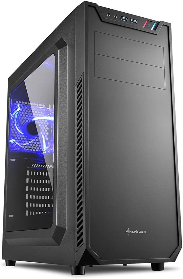 Sharkoon VS7 Window - Caja de Ordenador, PC Gaming, Semitorre ATX, Negro: Amazon.es: Informática