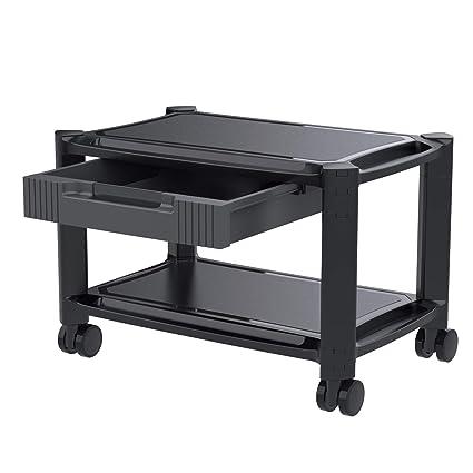 HUANUO - Soporte para impresora debajo del escritorio con 4 ruedas ...