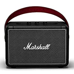 Get on the road with Marshall Kilburn II portable speaker. Free from the confines of wires and cords, this Bluetooth speaker offers 20+ hours of portable playtime on a single charge. This stout-hearted Hero weighs only 6 lbs. And is the loude...
