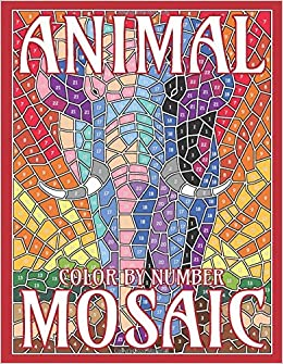 Animal Mosaic Color By Number Activity Puzzle Coloring Book
