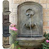 Sunnydaze Seaside Electric Wall Fountain, 27 Inch Tall - Multiple Options Available