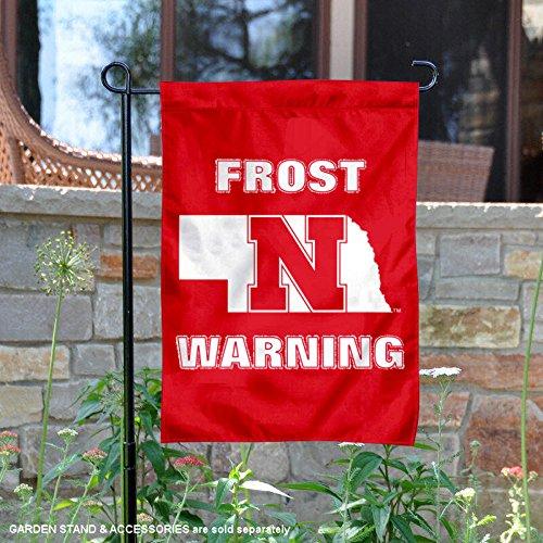 College Flags and Banners Co. Nebraska Cornhuskers Scott Frost Warning Garden Flag
