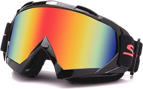 Galatée Motocross Vidrios a Prueba de Viento UV Goggle para Esquí, Patinaje, Escalada, Camping, Carreras, Gafas para el Polvo, Resistentes al Viento ...