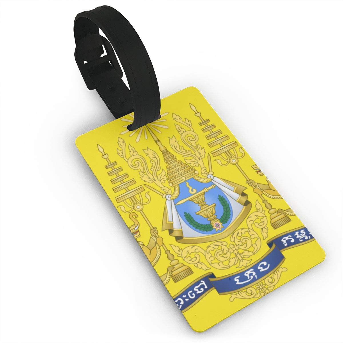 KODW12 Coat of Arms of Cambodia Luggage Tag Travel Bag Labels Suitcase Bag Tag Name Address Cards