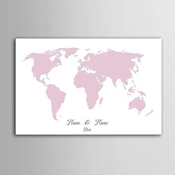 weltkarte hochzeitsgeschenk Amazon.de: DIY (Pink Weltkarte) personalisierbar Hochzeit Baum  weltkarte hochzeitsgeschenk