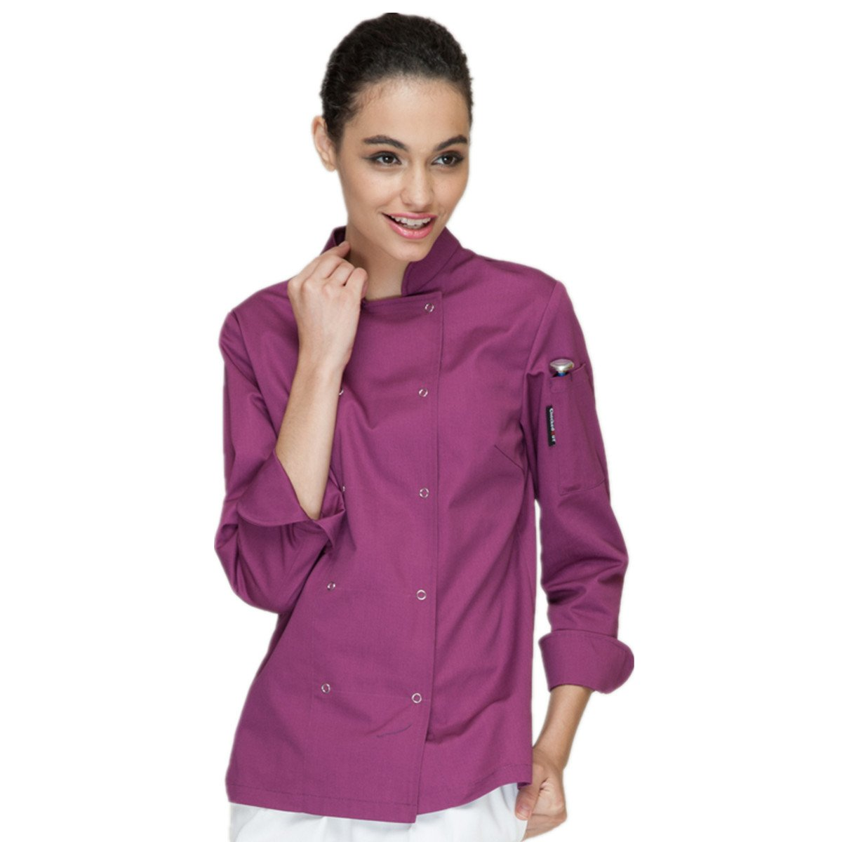 XINFU Fashion Chef's Women's Long Sleeve Kitchen Clothes Western Restaurant Chef Coat