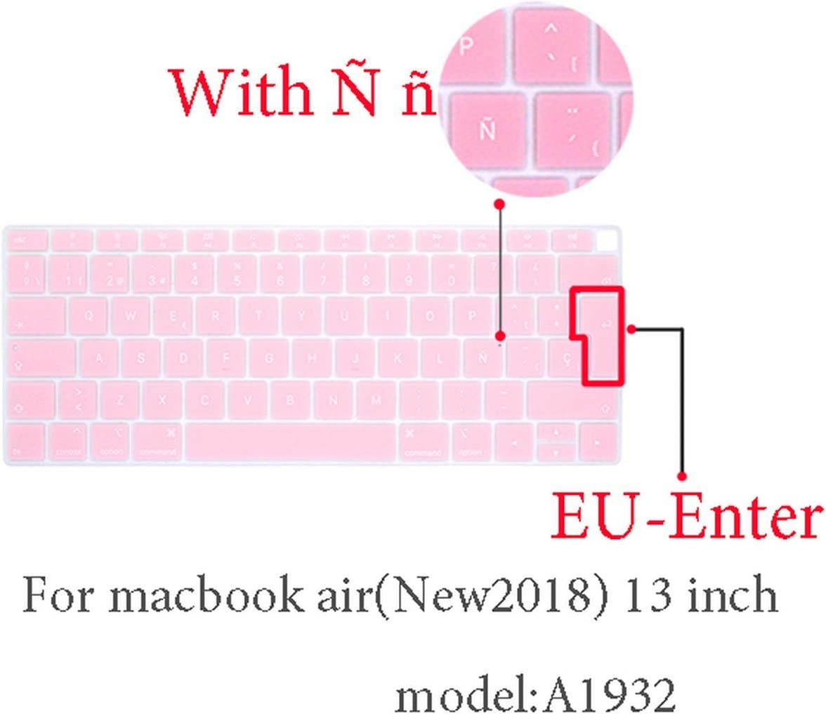 2009-2015 Spanish Keyboard Protective Film for Mac Book Pro 13 A2159 Pro13 Retina Air A1466 A1708 A1989 A1932 EU Key Silicone Keyboard Cover-Pro13 15