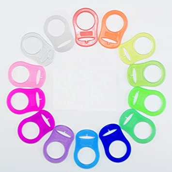Silicone Pacifier//Dummy Clips Adapters for Nuk MAM Button Style Paci MAM Rings