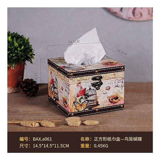 SHUCHANGLE Caja De Pañuelos Soporte De Cubierta para Caja De ...