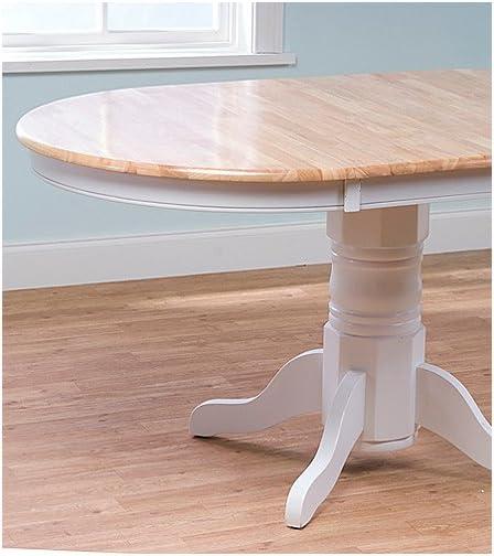TMS Furniture 69407WHT Farmhouse Dining Table