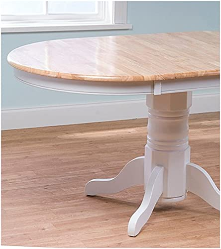 TMS Furniture 69407WHT Farmhouse Dining Table