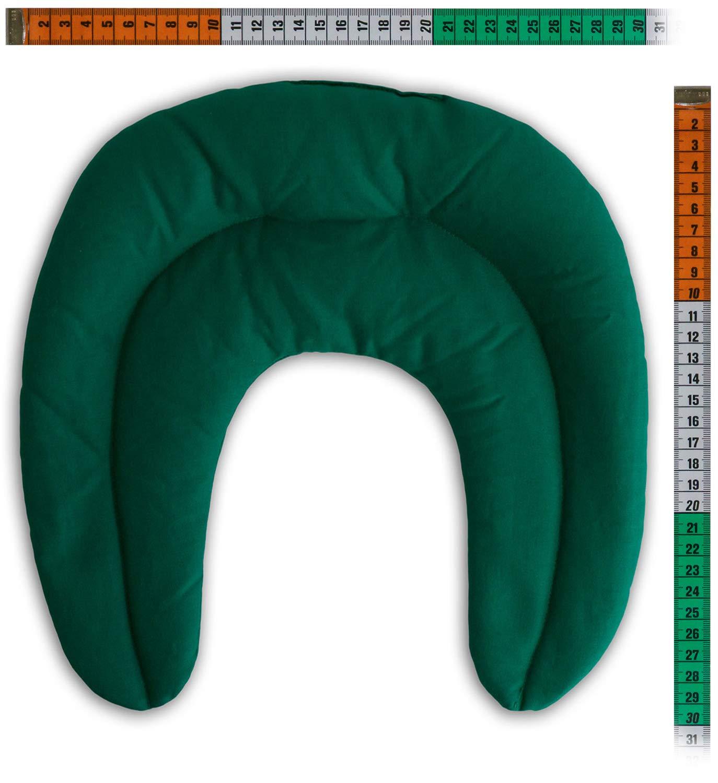 verde Semi di colza Cuscinetto ricurvo con tasca Cuscino per il collo per terapie calde e freddo