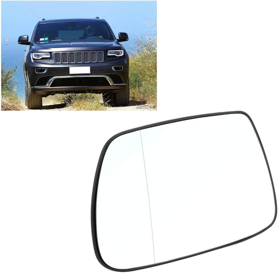 Vetro specchietto auto vetro specchietto retrovisore auto Vetro specchietto laterale porta sinistra laterale riscaldato per Jeep Grand Cherokee 2005-2010