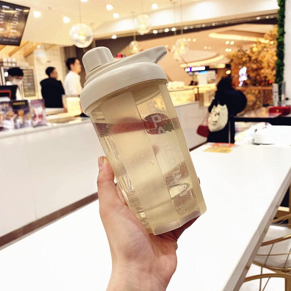Botella Agua Deporte,Para Cantimploras para Gimnasio, Bicicleta, Colegio, Oficina, Viajes -500ml beige