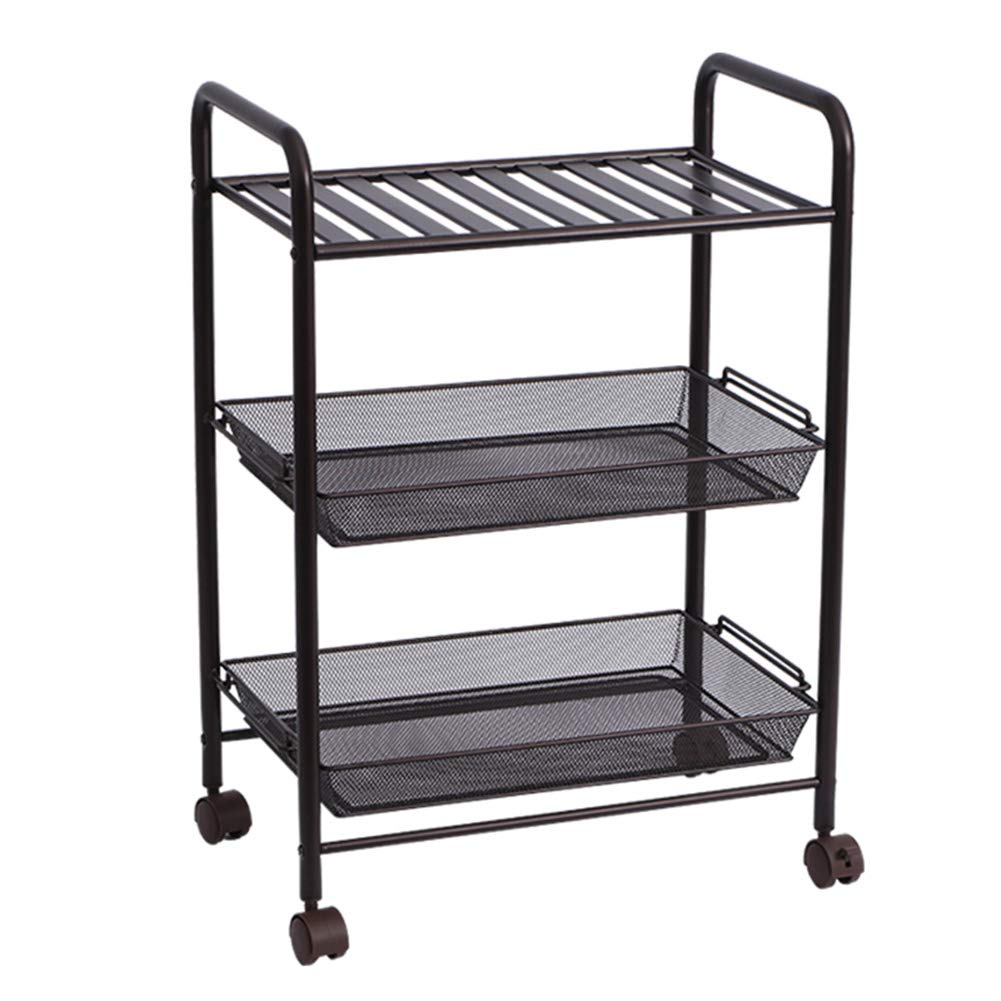 Shelf Storage Racks Storage Basket Shelf Baskets Household Kitchen Landing 3rd Floor Storage Shelf Cart Finishing Rack It Can Move Storage Rack ZHAOYONGLI