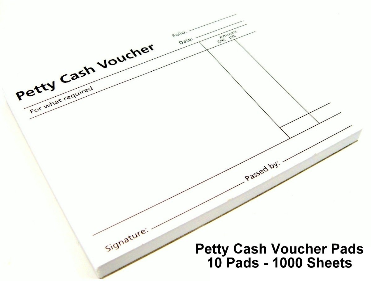 3XPetty Cash Voucher Pad Pack of 10