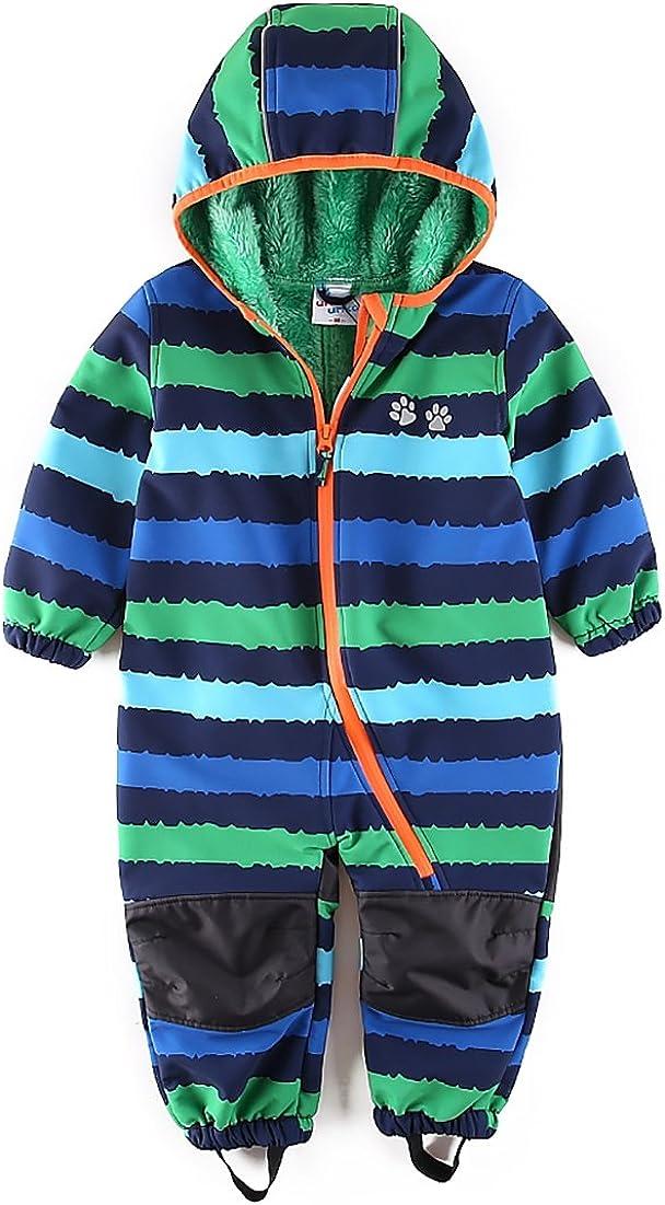 umkaumka Baby Boy Waterproof Coverall All in One Fleece Lining Pram Muddy Play