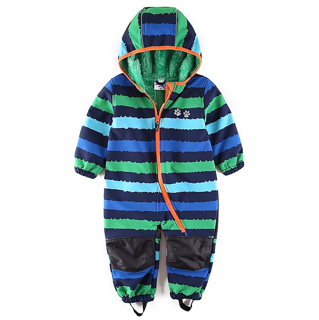 umkaumka Baby Boy Waterproof Coverall All in One Fleece Lining Pramsuit Muddy Play