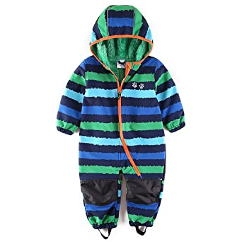 umkaumka Wasserdichter Softshellanzug, Schneeanzug mit Fleecefutter für Kleinkind/Jungen, für Kinderwagen und Spielen im Mats