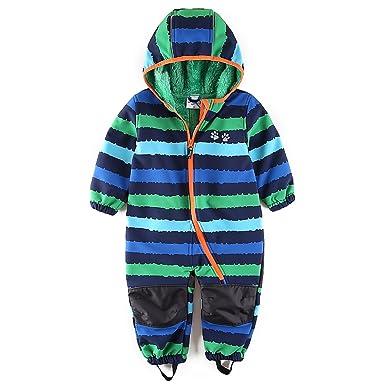 e7435a7c1 Amazon.com  umkaumka Baby Boy Waterproof Coverall All in One Fleece ...