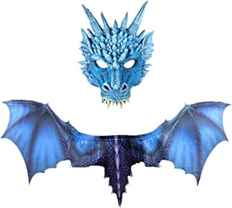 Fossenfeliz Alas + Mascara de Dragón para Adultos Interesante ...