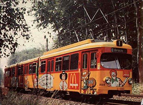 Tram with McDonalds Advertising Kolns bunte Bahnen 1983 Locomotives Original Vintage Postcard