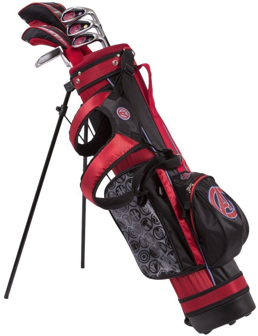 Marvel Maleavengers Junior Golf Set 6-8 Years, Driver, 4 Hybrid, 7 Iron, SW, Putter, Stand Bag, Headcovers