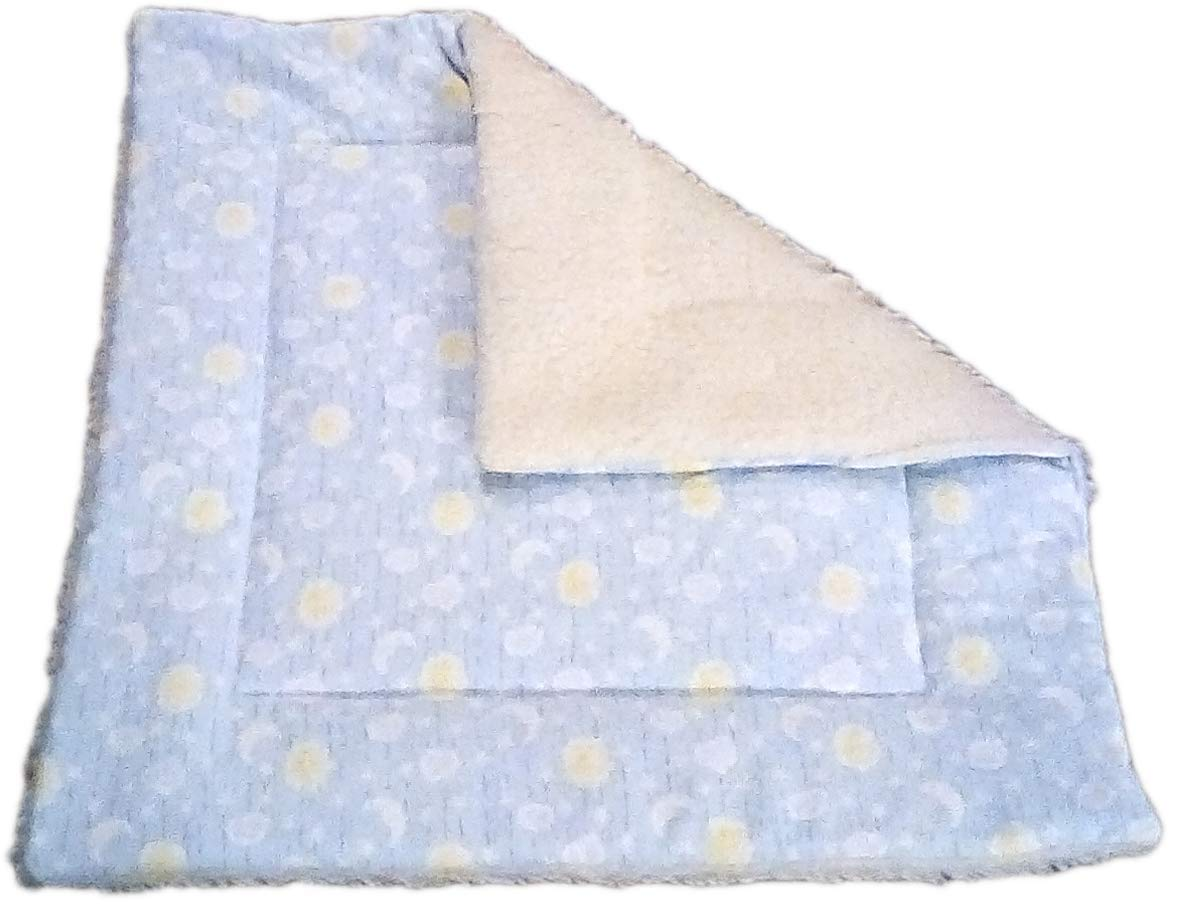 Sherpa Cat Blanket with Catnip - 17'' x 17'' - Moon and Stars