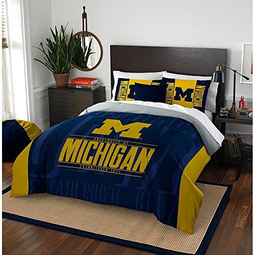 NCAA Michigan Wolverines Modern Take Two Sham Set, Maize, Full/Queen Size (Michigan Bedroom Set)