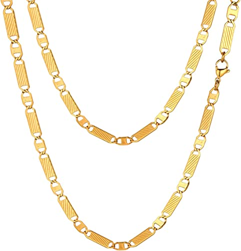"""MENS 5MM Gold//Black//Silver 16/""""~36/"""" Stainless Steel Pearl Box Chain Necklace"""