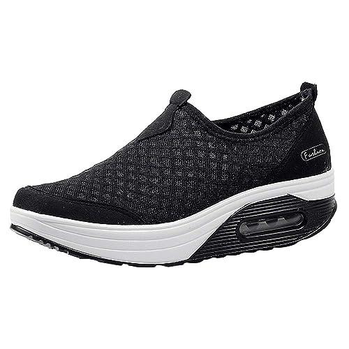 Kinlene Malla Exterior para Mujer Calzado Deportivo Informal Zapatillas con amortiguación de Aire con Suela Gruesa Zapatillas de Deporte: Amazon.es: Zapatos ...