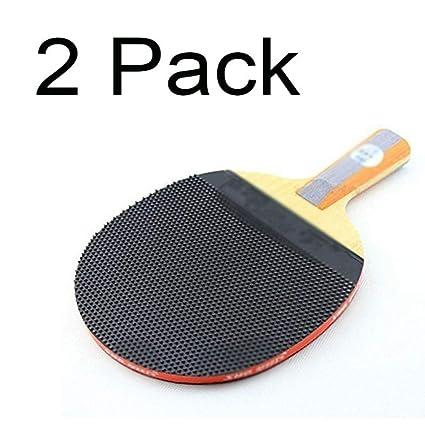 KDKDA Paquete de 2 Raquetas de Ping Pong Profesionales de ...