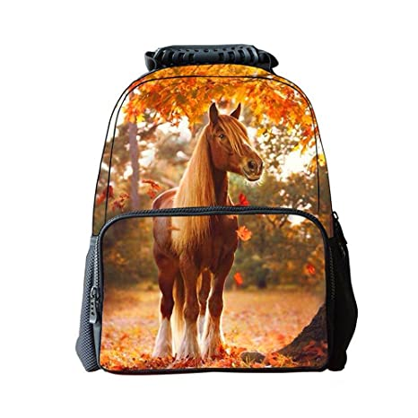 2169332bb00 Image Unavailable. Image not available for. Color  3D Steed Horse Backpack  Kids Back to School ...