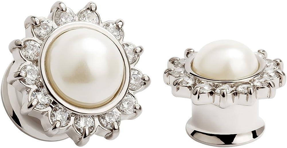KUBOOZ Opal Sunflower Ear Plugs Tunnels Gauges Stretcher Piercings Jewelry