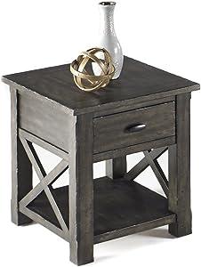 Progressive Furniture Crossroads Rectangular End Table, Smokey Gray