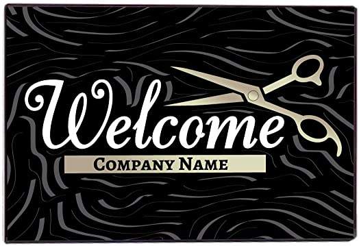 VictoryStore Beauty Salon Door Mat – Custom Beauty Salon Doormat 24 Inches by 36 Inches Welcome