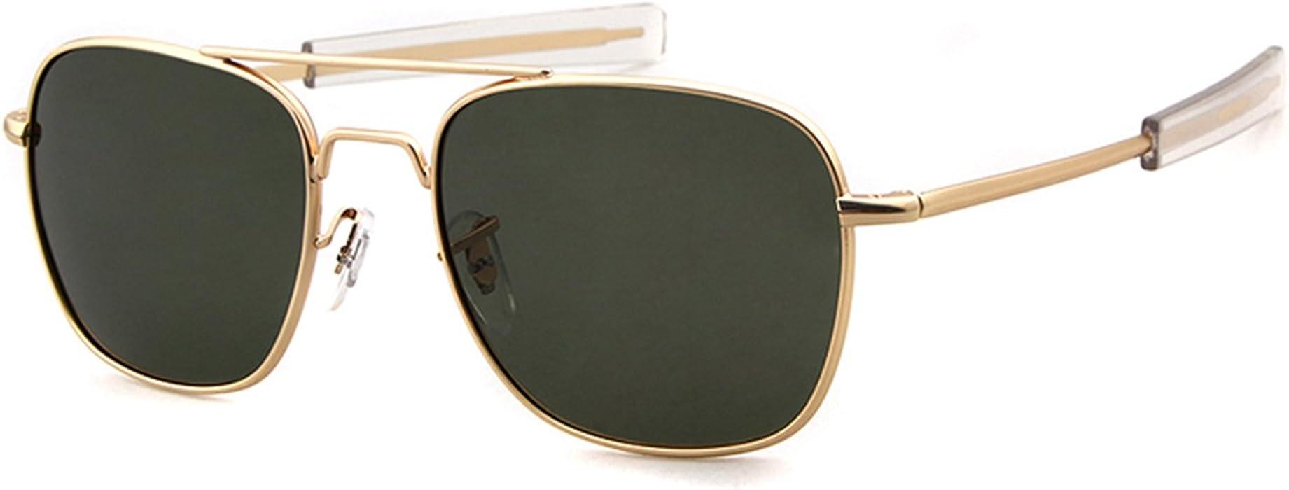 75be209bd Aviator Sunglasses Polarized For Men Women Square Mirror Metal Frame Sun  Glasses