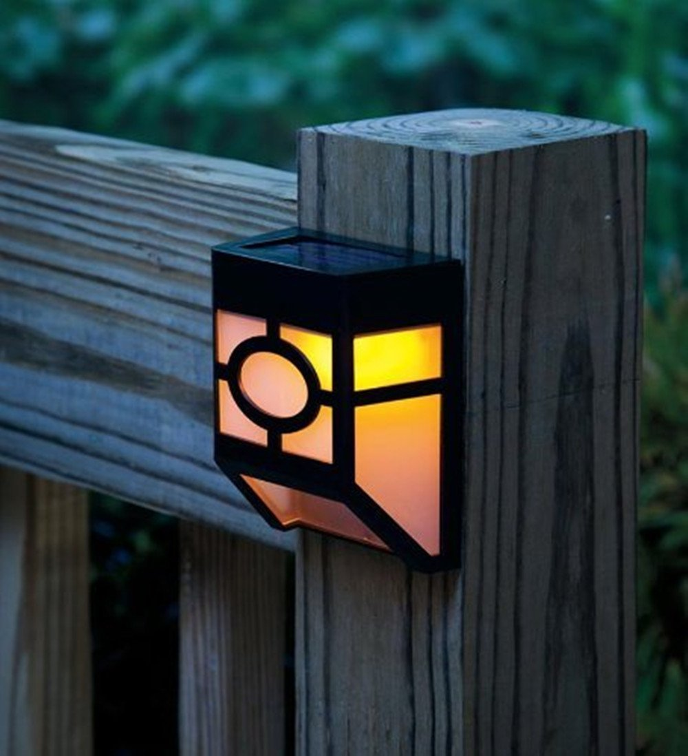 deck accent lighting. Findway Outdoor Solar Powered Deck Accent Light Sensor Fence Wall Garden Yard Path Lamp - Amazon.com Lighting T