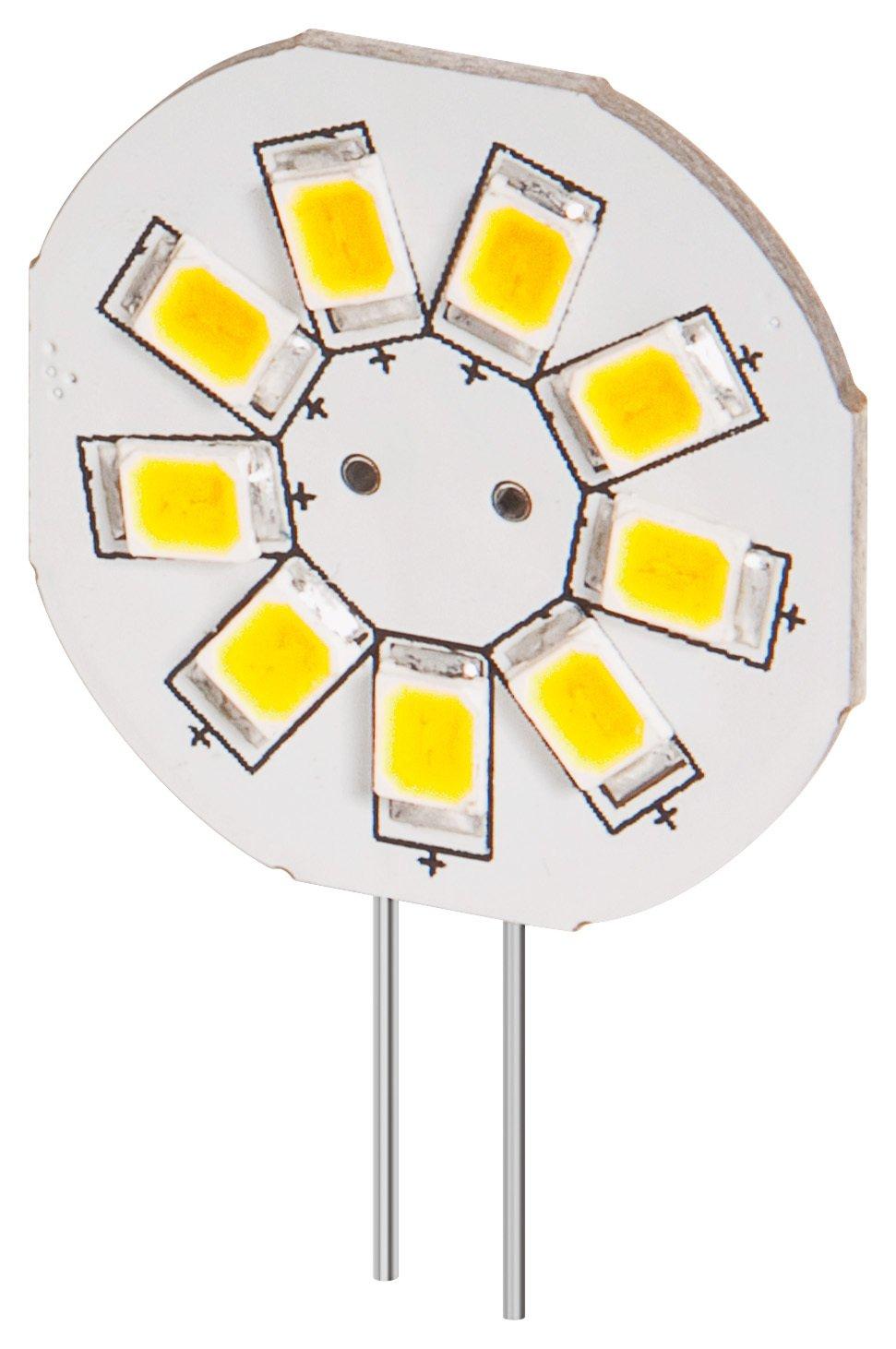 10er Set LED Einbaustrahler 1,5 W, Sockel G4, ersetzt 15 W, 120 Lumen, warm-weißes Licht mit 2800 K